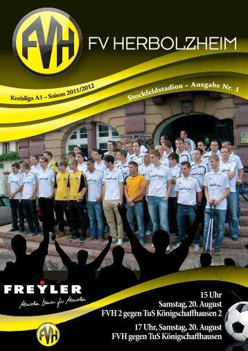 Stadionheft 20.08.2011 - Fußballverein Herbolzheim eV