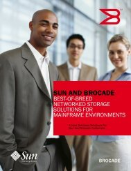 Sun and Brocade: Best of Breed Networked Storage Solutions for ...