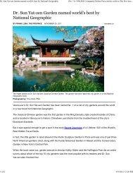 Dr. Sun Yat-sen Garden named world's best by National Geographic