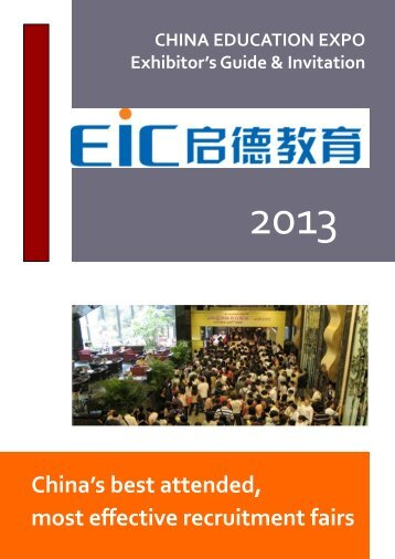 China's best attended, most effective recruitment fairs - EIC Group ...