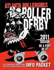 B/W artwork - Atlanta Rollergirls