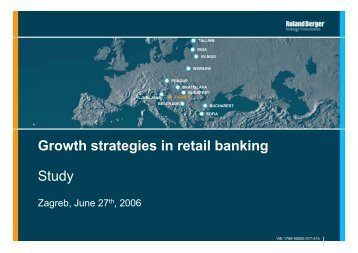 Growth strategies in retail banking Study - Roland Berger