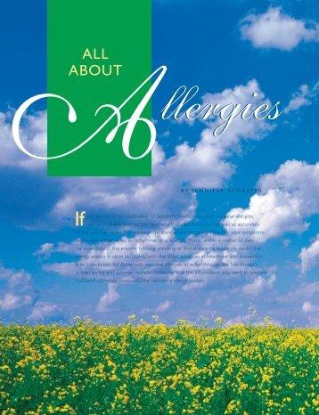 allergies - Bellevue Club REFLECTIONS Magazine