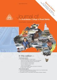 August 2009 Vol 20 No 3 - Australasian College of Road Safety