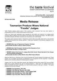 Media Release - Hobart City Council