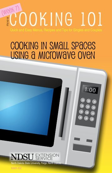Cooking 101: Quick and Easy Menus, Recipes ... - NDSU Agriculture