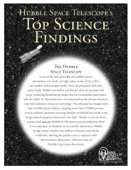 Hubble Space Telescope's Top Science Findings - HubbleSite