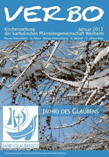 verbo-01-13 - Katholische Pfarreiengemeinschaft Weilheim