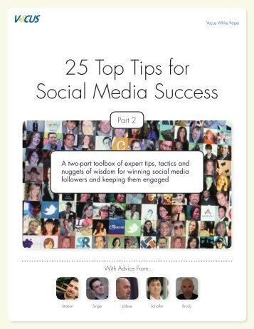 25 Top Tips for Social Media Success - Vocus