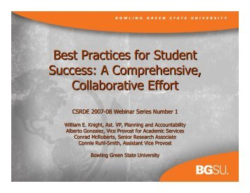 Best Practices for Student Success - Bowling Green State University