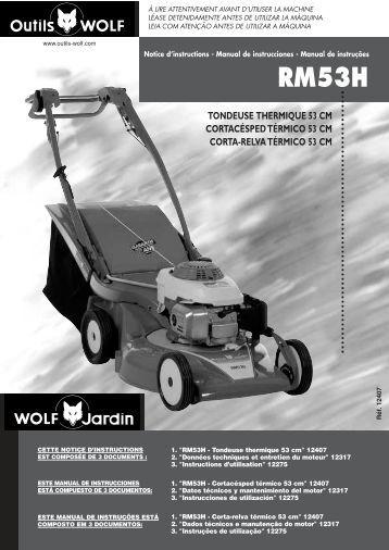 tondeuse mulcheuse thermique 53 cm outils wolf. Black Bedroom Furniture Sets. Home Design Ideas