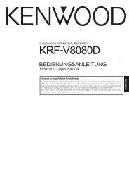 KRF-V8080D - Kenwood