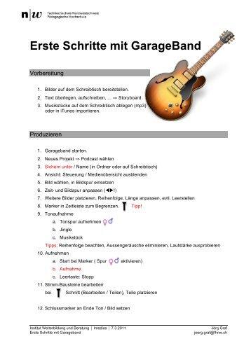 Erste Schritte mit GarageBand - Educanet2 - Portal der ...