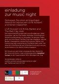 music night - Tonbild Spinnerei AG - Seite 2
