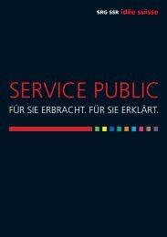 SERVICE PUBLIC - SRG SSR