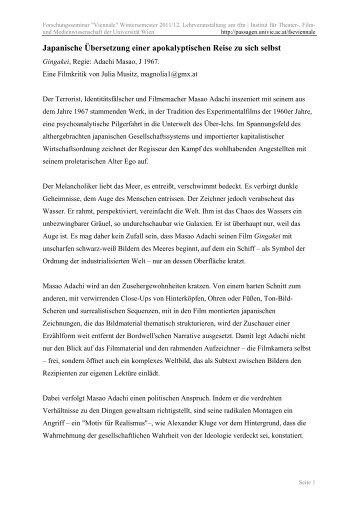 pdf-Version - Passagen - Universität Wien