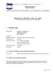 Protokol o skúške odolnosti keramického črepu a glazúry