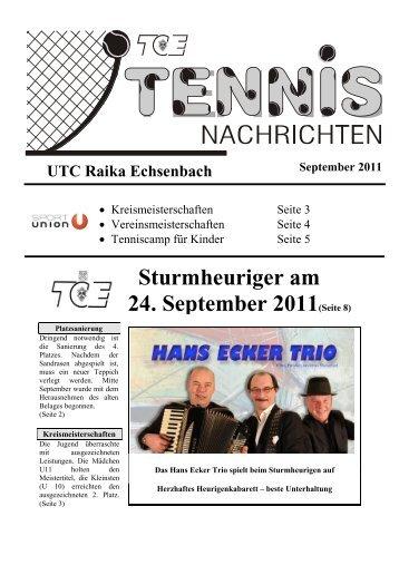 Sturmheuriger am 24. September 2011(Seite 8) - UTC Echsenbach