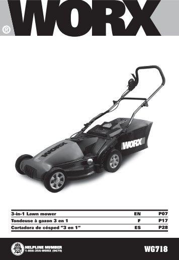 3-in-1 lawn mower en tondeuse ā gazon 3 en 1 f cortadora de ...