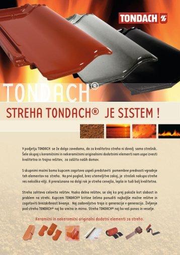 STREHA TONDACH® JE SISTEM !