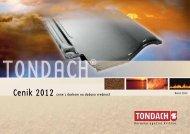 Cenik 2012 cene z davkom na dodano vrednost - Tondach