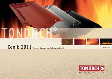 TD Preisliste 2011_SLO_inkl MwSt:Preisliste SLO - Tondach