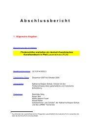 Abschlussbericht - Katharina-Kasper-Schule