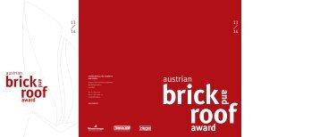 austrian brick and roof award 13 / 14 - Verband Österreichischer ...