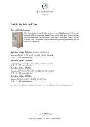 Bach in Ton, Bild und Text - J. S. Bach-Stiftung