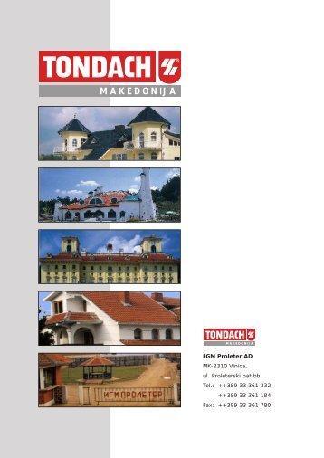 TONDACH KATALOG.CDR - infoPRess