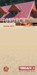 Cennik TONDACH 2012 - AGROBUD