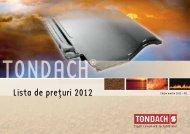 Lista de pre,turi 2012 - ghid de proiectare tondach