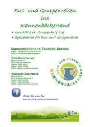 Angebote für Bus- und Gruppenreisen - Kannenbäckerland