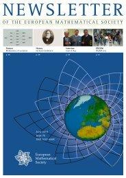EMS Newsletter June 2010 - European Mathematical Society ...