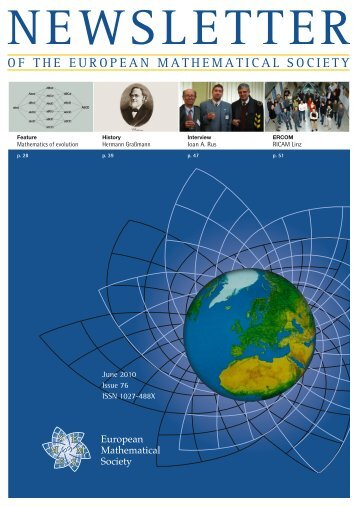 EMS Newsletter June 2010 - European Mathematical Society ...