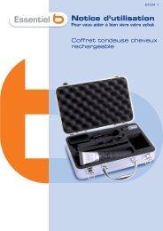 Notice tondeuse cheveux Ess b ETCR1 V.3.0 (A5) - Boulanger