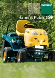 Gamme de Produits 2009 - MTD France