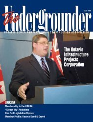 Fall 2005 - Ontario Sewer and Watermain Construction Association