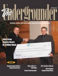 Safety Group Receives Record $2.8 Million Rebate - Ontario Sewer ...