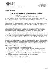 2011-2012 International Leadership - Meeting Professionals ...