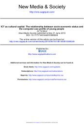 ICT as cultural capital - Universiteit Gent