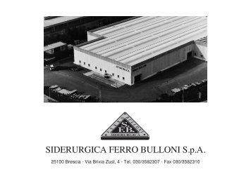 Laminati a caldo - SFB Siderurgica Ferro Bulloni