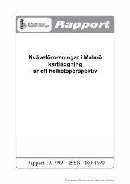 Kväveföroreningar i Malmö kartläggning ur ett ... - Malmö stad