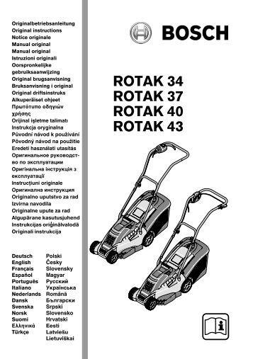 la notice de la tondeuse bosch rotak 320 plantes et jardins. Black Bedroom Furniture Sets. Home Design Ideas