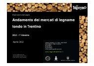 Andamento dei mercati di legname tondo in Trentino - Legno Trentino