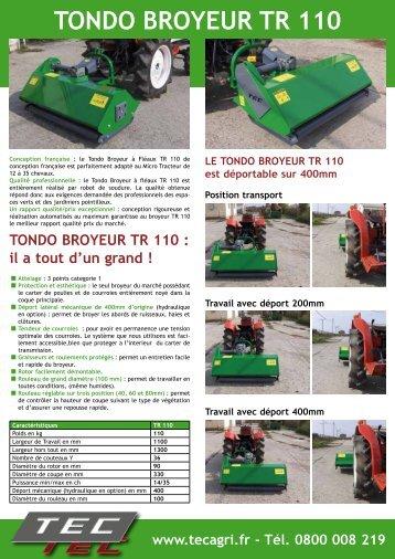 TONDO BROYEUR TR 110