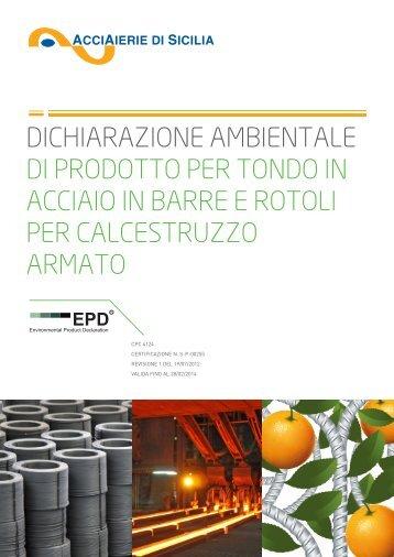 dichiarazione ambientale di prodotto per tondo in acciaio in barre e ...