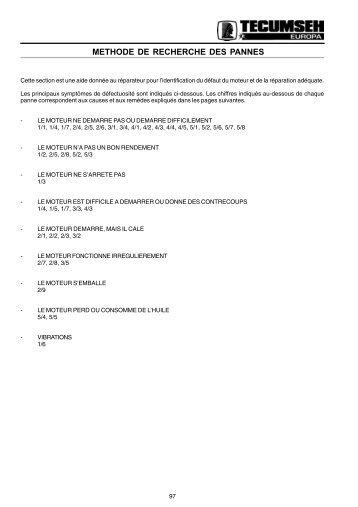 methode de recherche des pannes - Pages Persos Chez.com