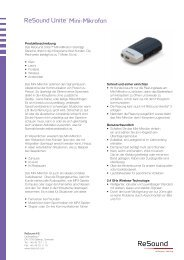 ReSound Unite Mini-Mikrofon - Datenblatt (Zuletzt aktualisiert 19.11