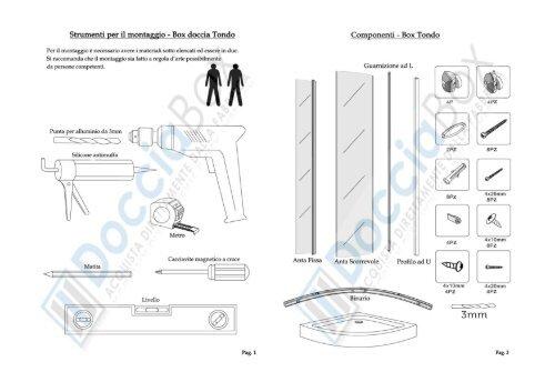 Componenti Per Box Doccia.Strumenti Per Il Montaggio Box Doccia Tondo Componenti